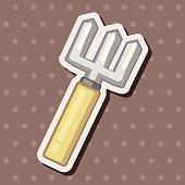 gardening shovel theme elements