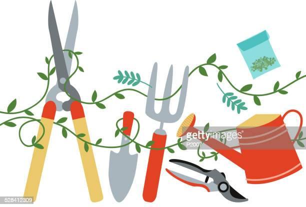 gardening tools design element - pruning shears stock illustrations, clip art, cartoons, & icons