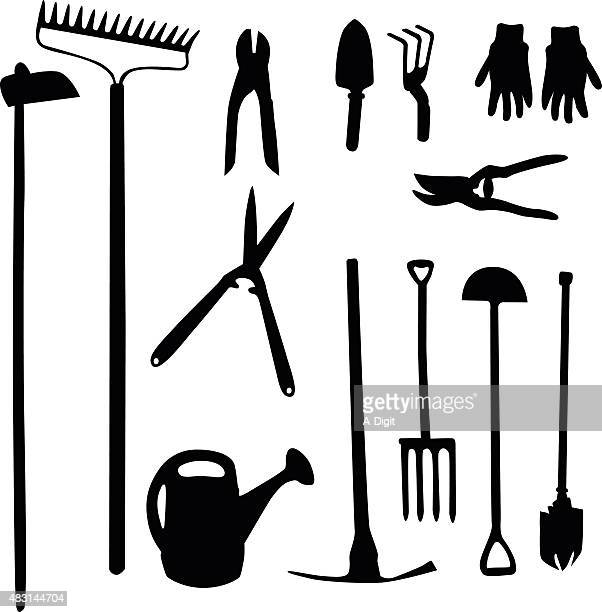 gardening tools - hedge trimmer stock illustrations, clip art, cartoons, & icons