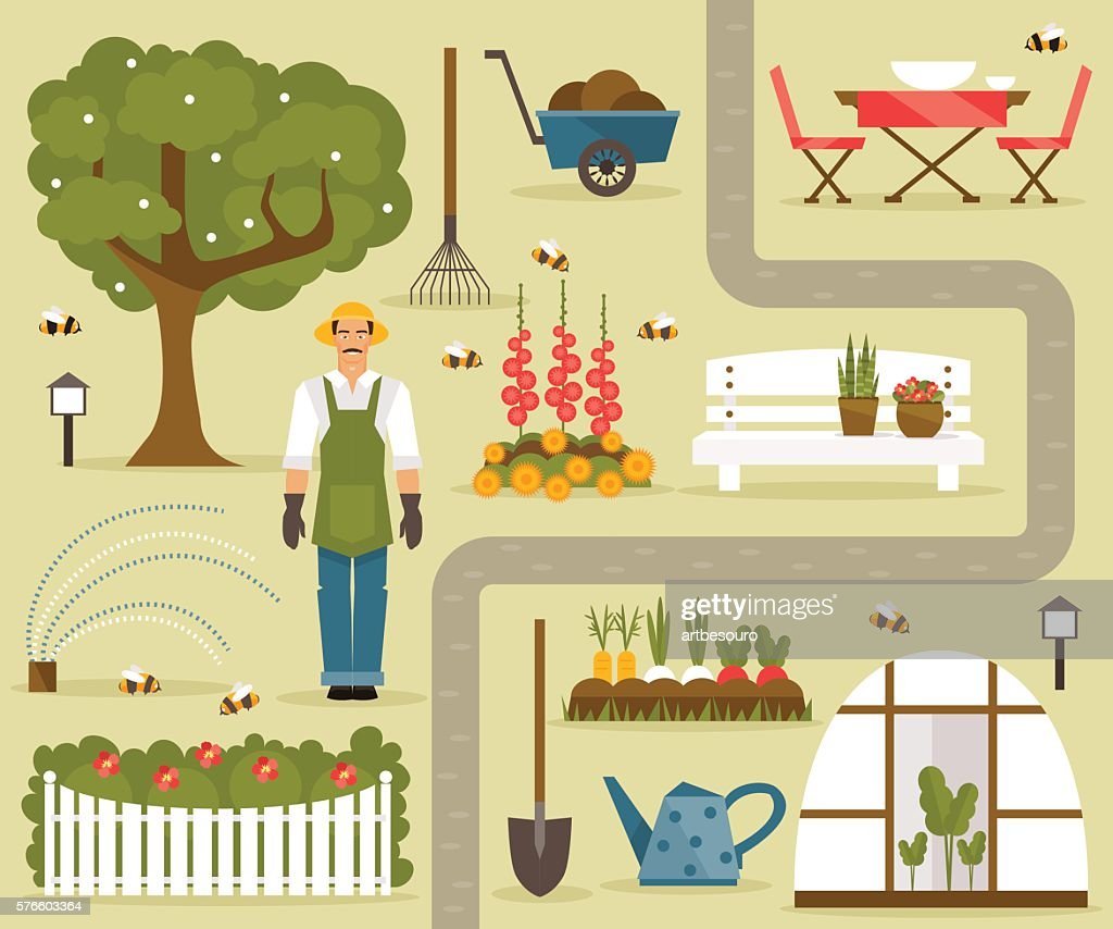 Gardening. Vector set