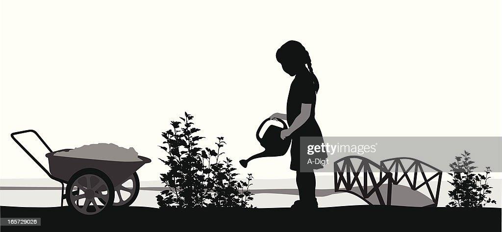 Gardening Vector Silhouette : stock illustration