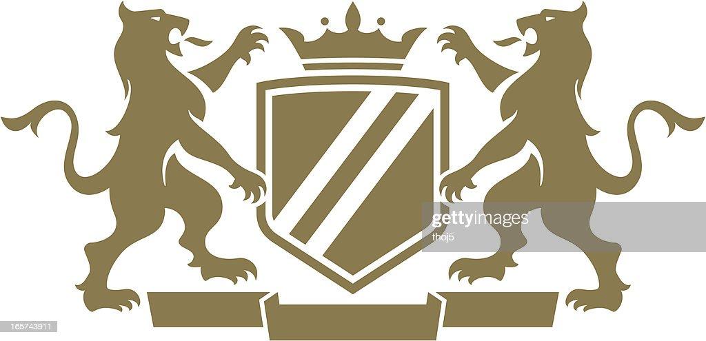 Gargoyal Dragon Crest : stock illustration