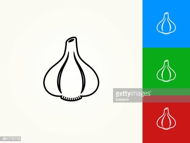Garlic Black Stroke Linear Icon