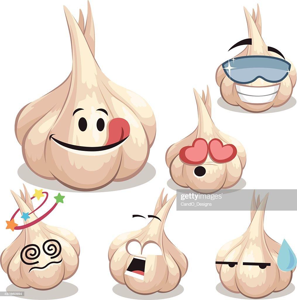 Garlic Cartoon Set A