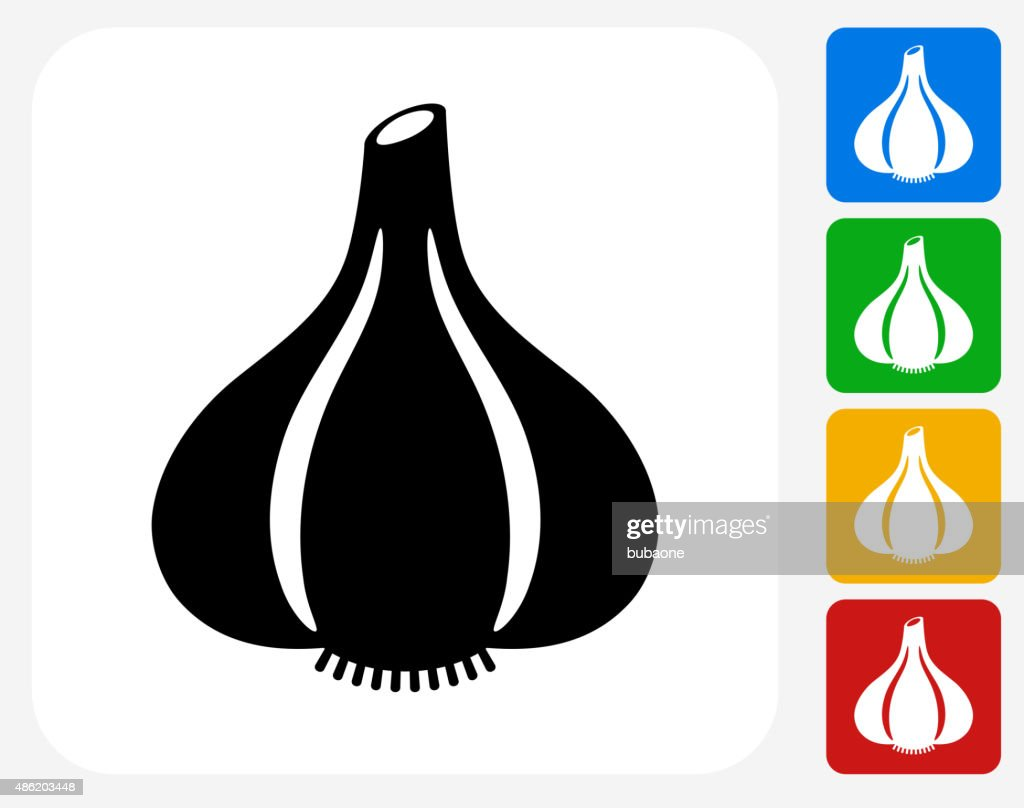 Garlic Icon Flat Graphic Design