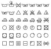 Free Laundry Care Label Clipart and Vector Graphics