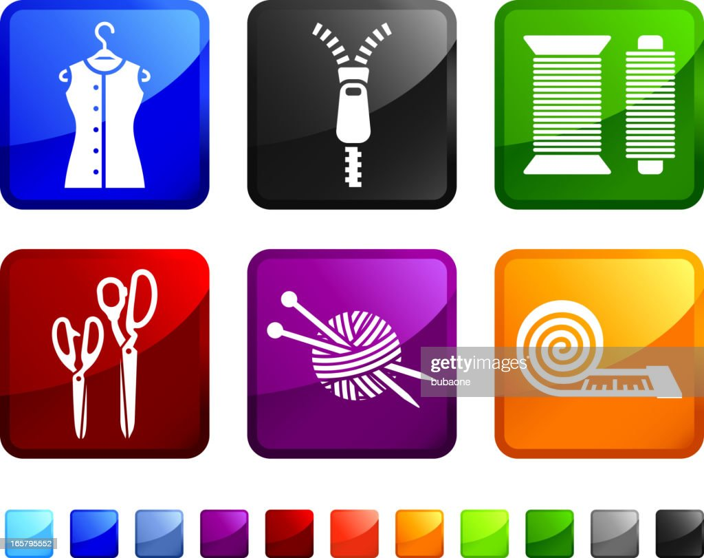 Garments And Accessories Royalty Free Vector Icon Set