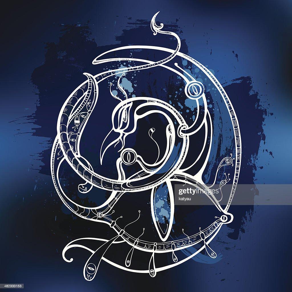 Garuda. Decorative Vector illustration.