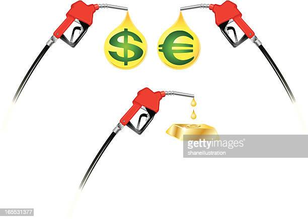 gas and diesel prices - gas prices stock illustrations, clip art, cartoons, & icons