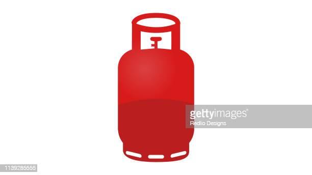 gas bottle icon - butane stock illustrations