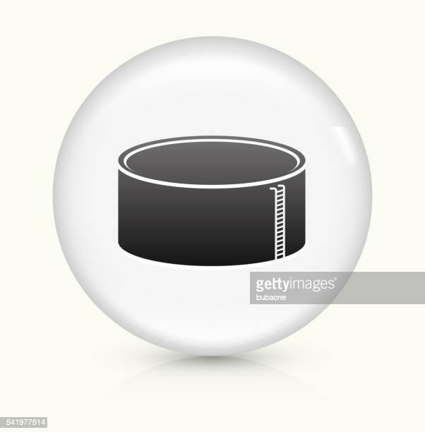 Gas Container icon on white round vector button