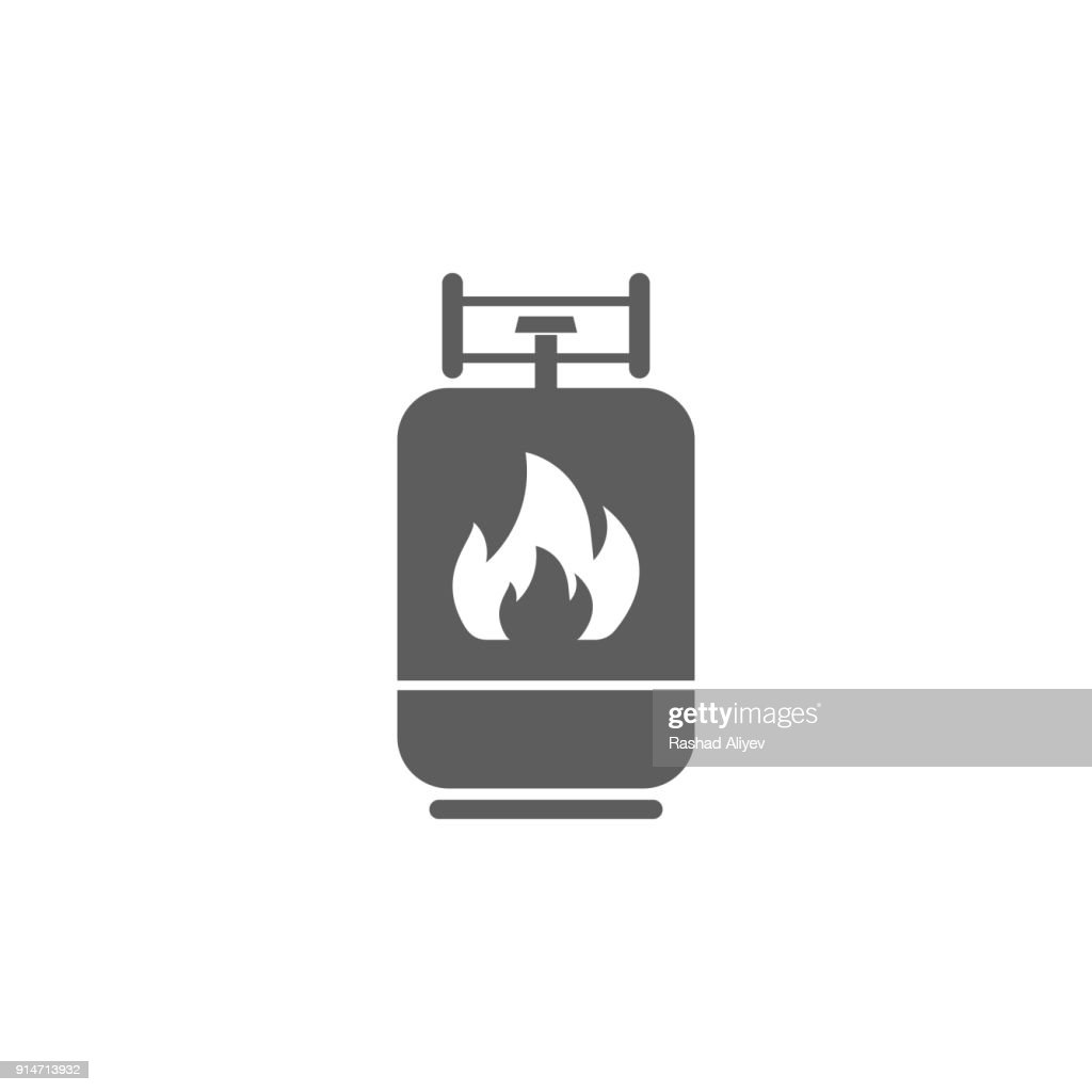 gas cylinder icon. Element of oil and gas icon. Premium quality graphic design icon. Signs and symbols collection icon for websites, web design, mobile app