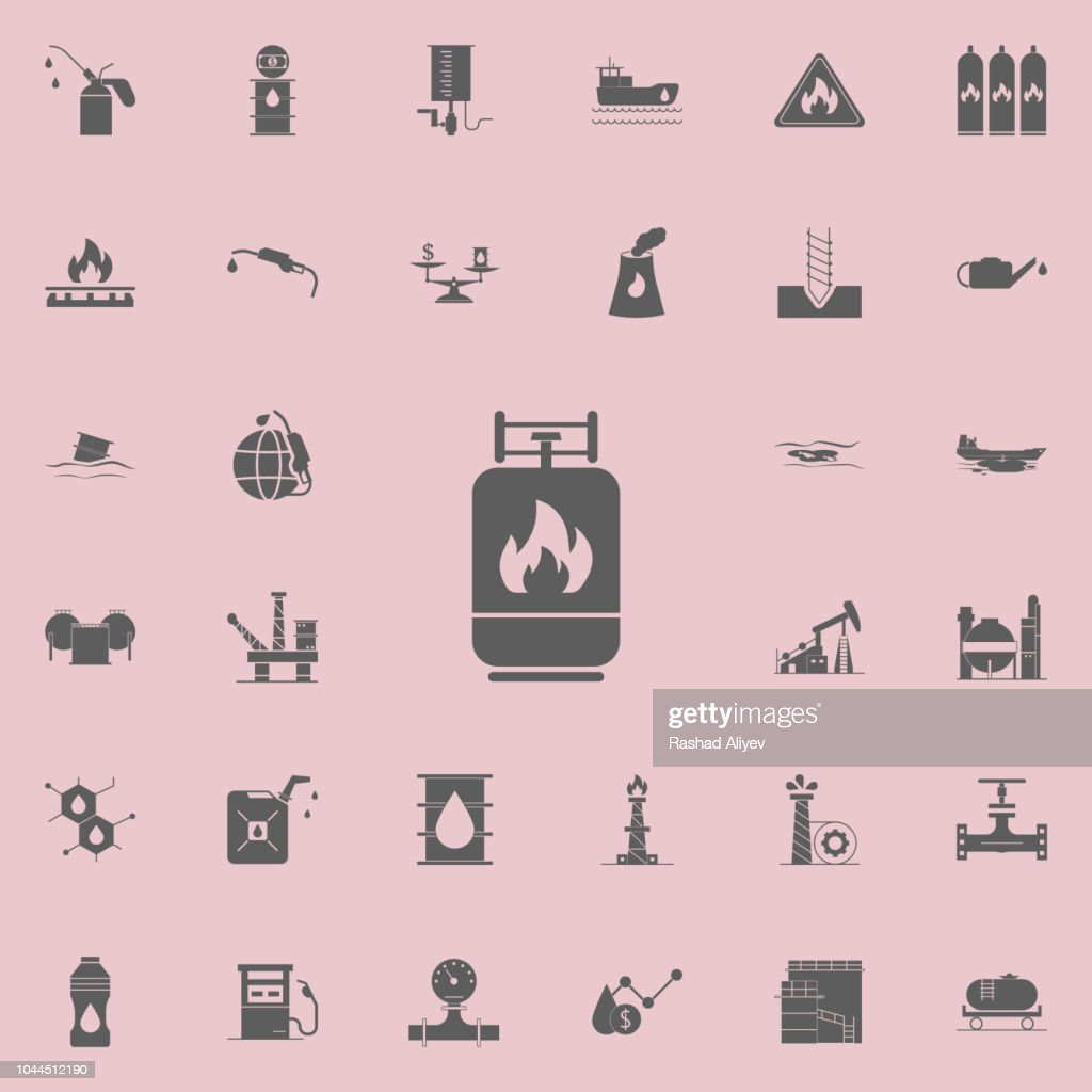 gas cylinder icon. Oil icons universal set for web and mobile