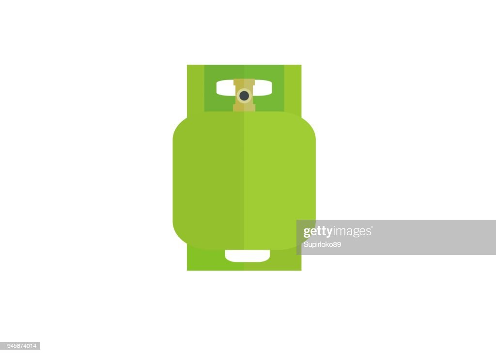 gas cylinder simple illustration