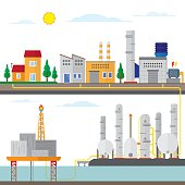 gas energy with offshore, industry plant to user energy