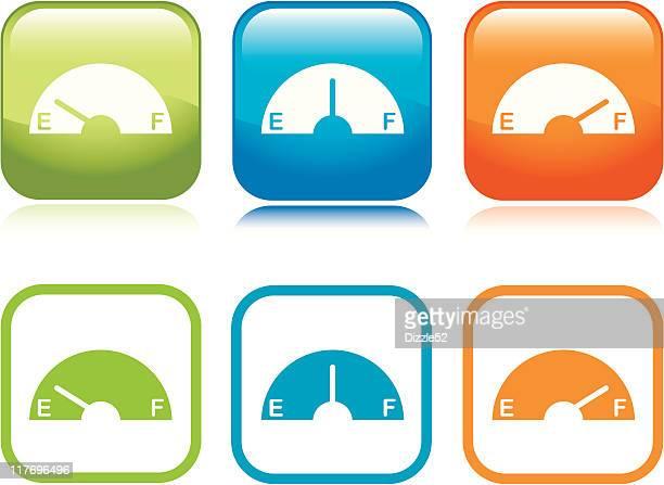 Gas Gauge Icons