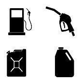 Gas Icon isolated on white background
