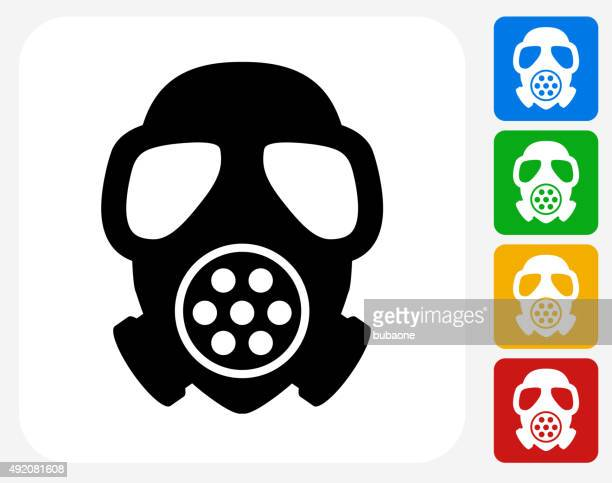 Gas Mask Icon Flat Graphic Design