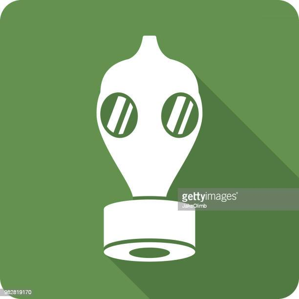 gas mask icon silhouette - medical ventilator stock illustrations, clip art, cartoons, & icons