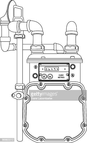 gas meter - gas meter stock illustrations, clip art, cartoons, & icons