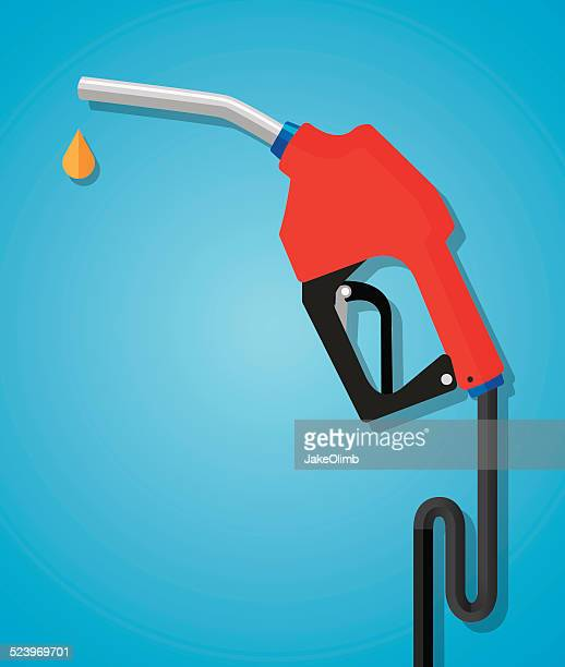 gas nozzle flat - fuel pump stock illustrations, clip art, cartoons, & icons