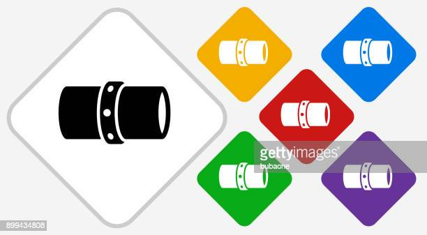 Gas Pipeline Color Diamond Vector Icon