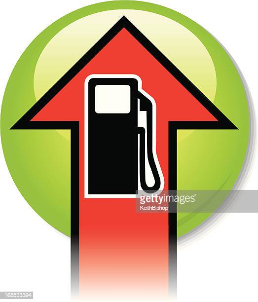 gas prices rising - gas prices stock illustrations, clip art, cartoons, & icons