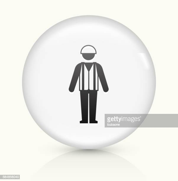 gas professional icon on white round vector button - waistcoat stock illustrations, clip art, cartoons, & icons