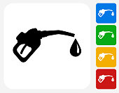 Gas Pump Icon Flat Graphic Design