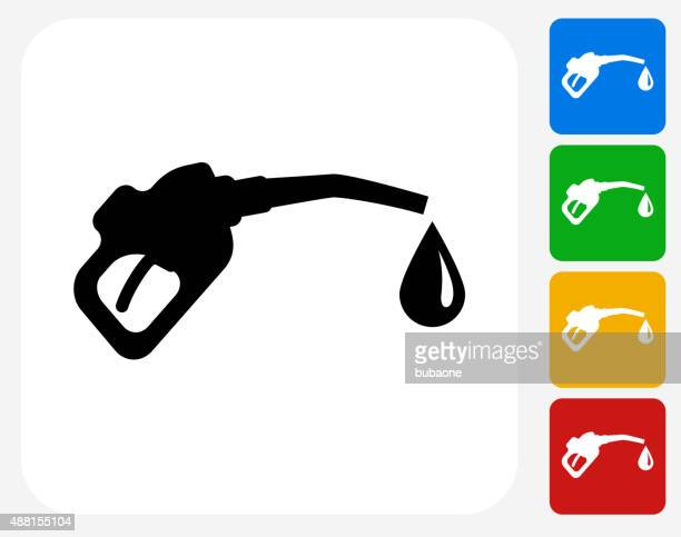 gas pump icon flat graphic design - oil pump stock illustrations, clip art, cartoons, & icons