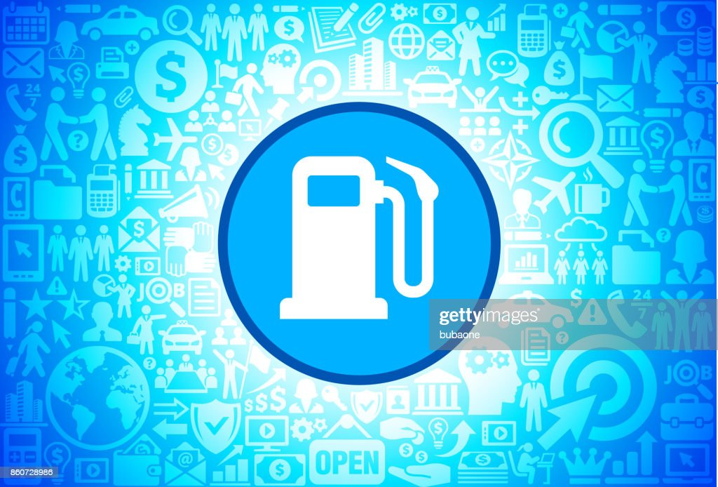 Gas Pump Icon on Business and Finance Vector Background