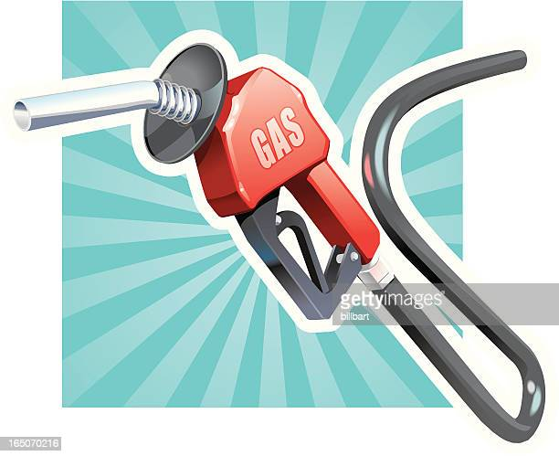gas pump nozzle - fuel pump stock illustrations, clip art, cartoons, & icons