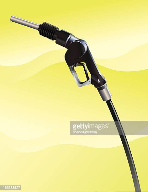 gas pump nozzle - gas prices stock illustrations, clip art, cartoons, & icons