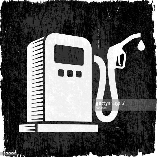 Gas Pump on Black royalty free vector Background