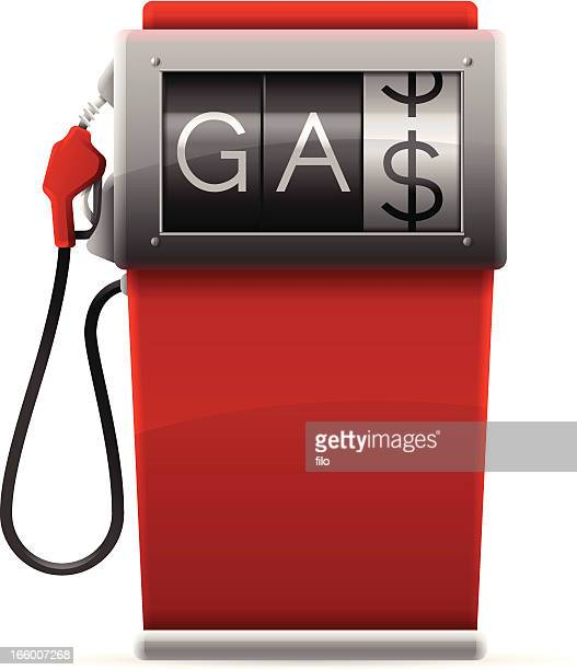 gas pump - fuel pump stock illustrations, clip art, cartoons, & icons