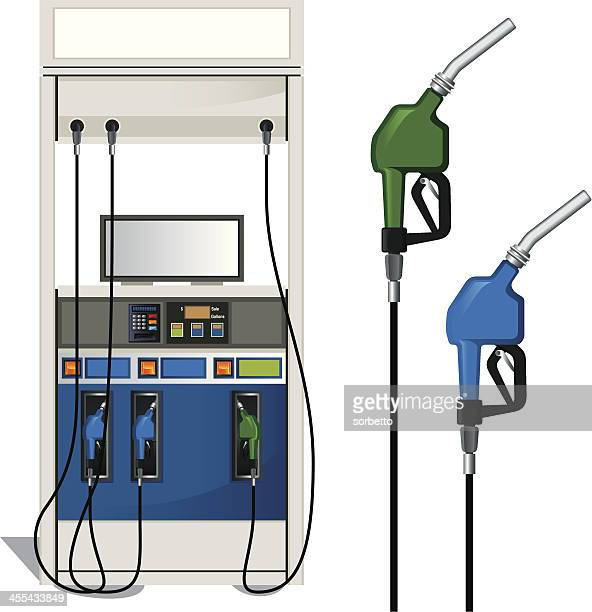 gas station and fuel pump - fuel pump stock illustrations, clip art, cartoons, & icons