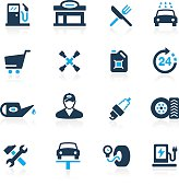 Gas Station Icons // Azure Series