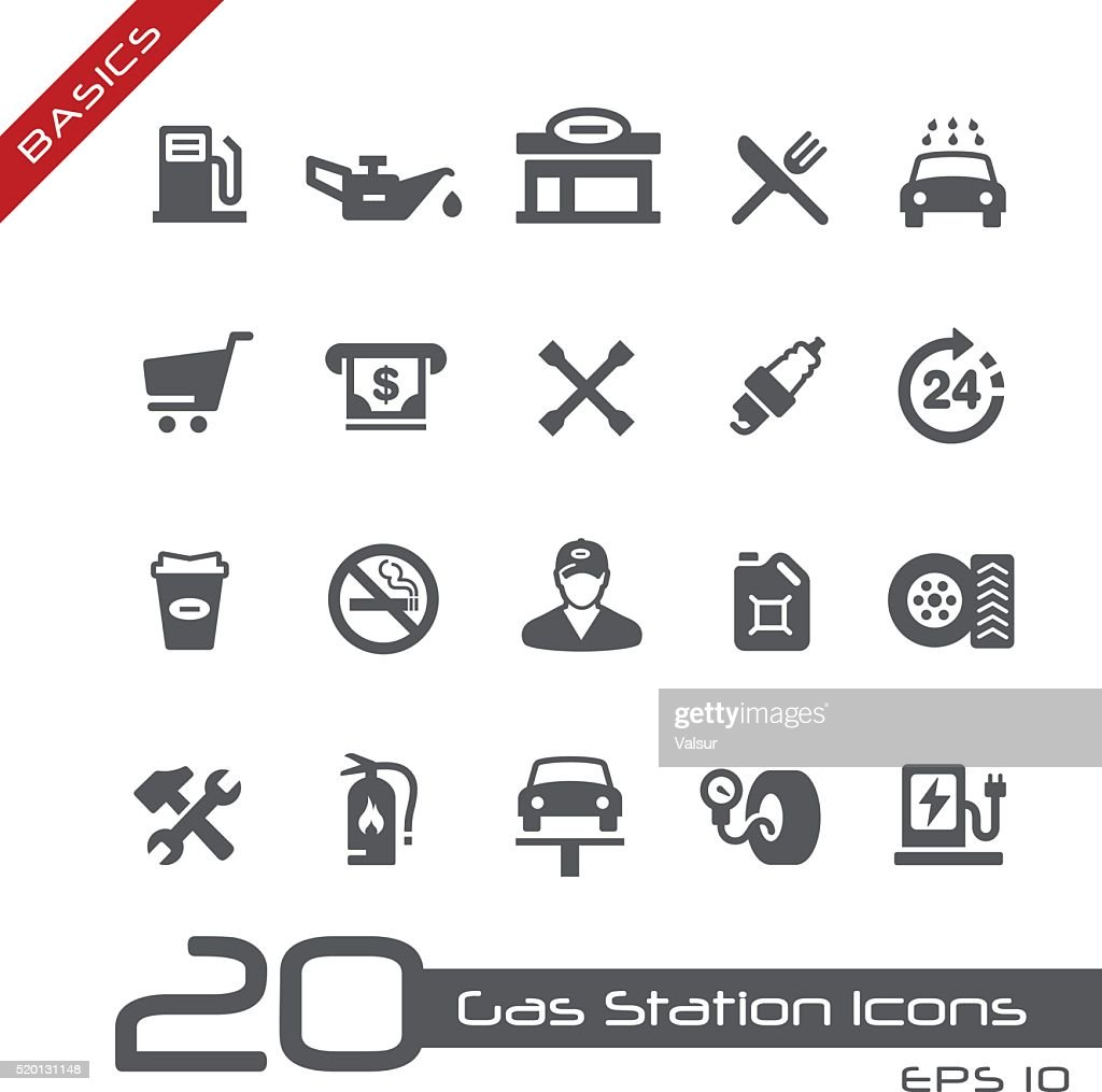 Gas Station Icons - Basics