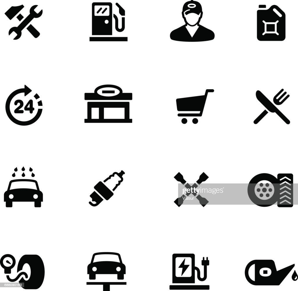 Gas Station Icons // Black Series