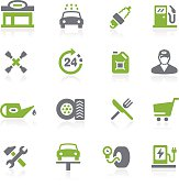 Gas Station Icons // Natura Series