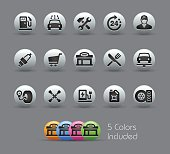 Gas Station Icons - Pearly Series