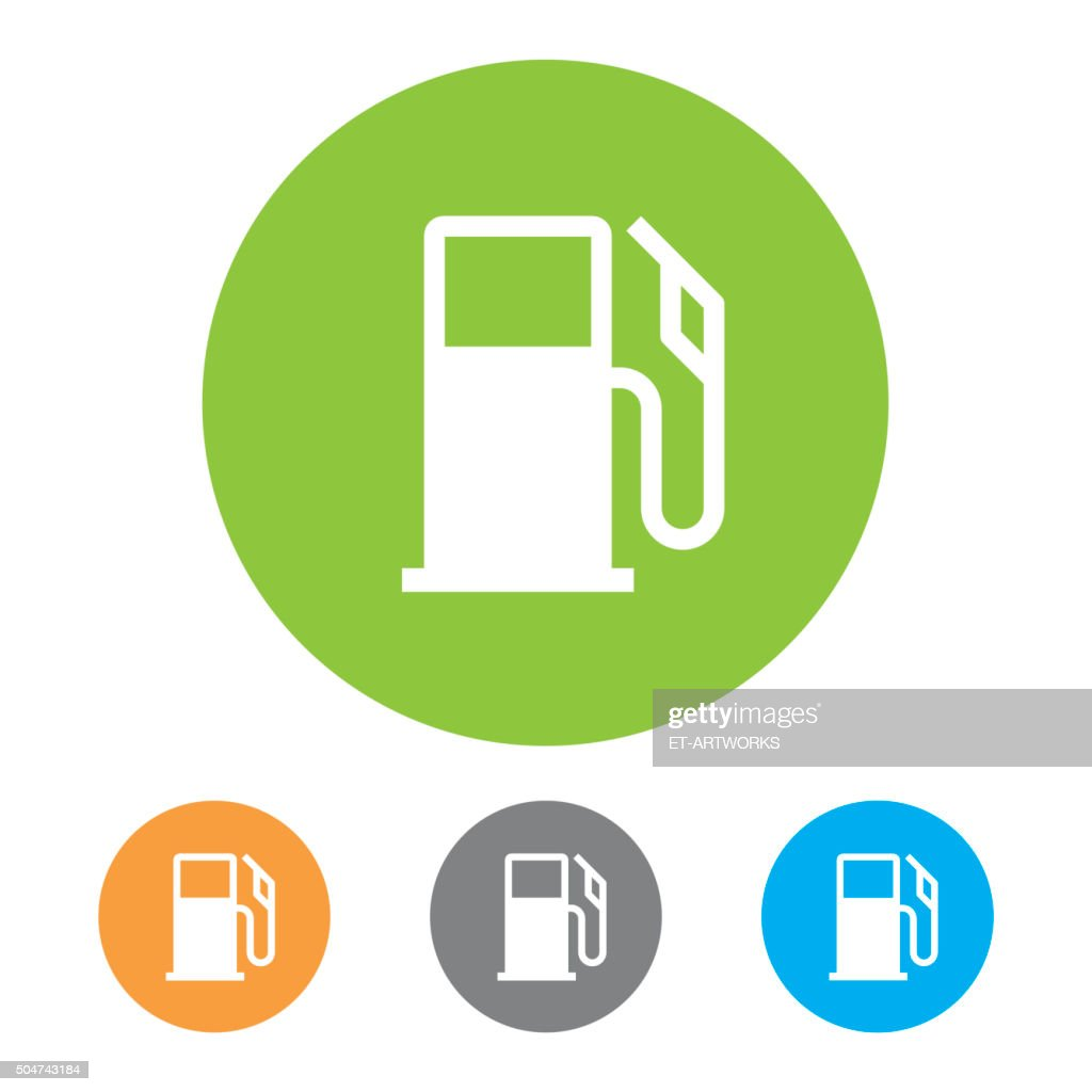 Gas Station Icons Vector Vector Art Getty Images