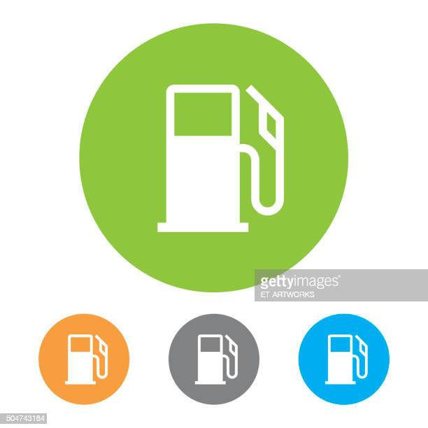 gas station icons. vector - fuel pump stock illustrations, clip art, cartoons, & icons