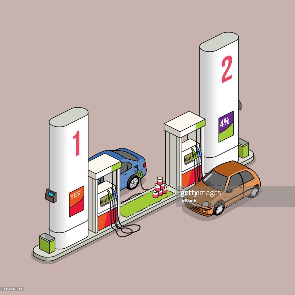 gas station : stock illustration