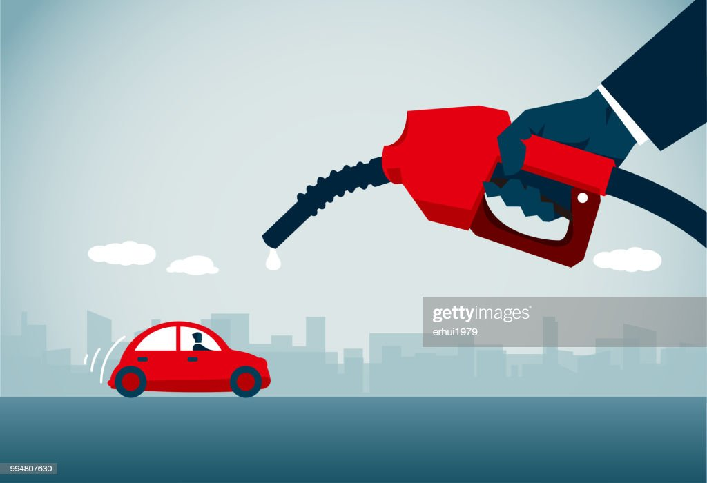 gas station : stock illustration