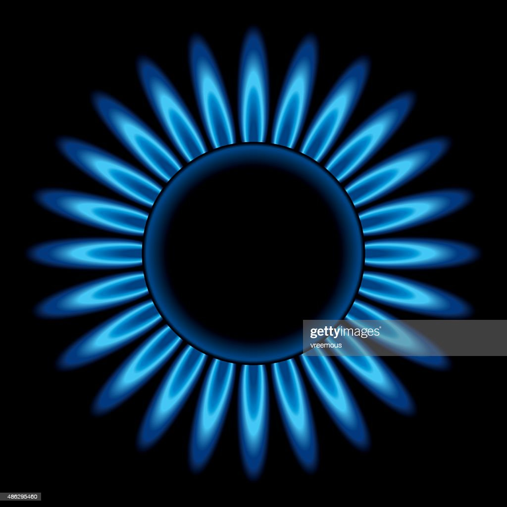 Gas stove flames : stock illustration