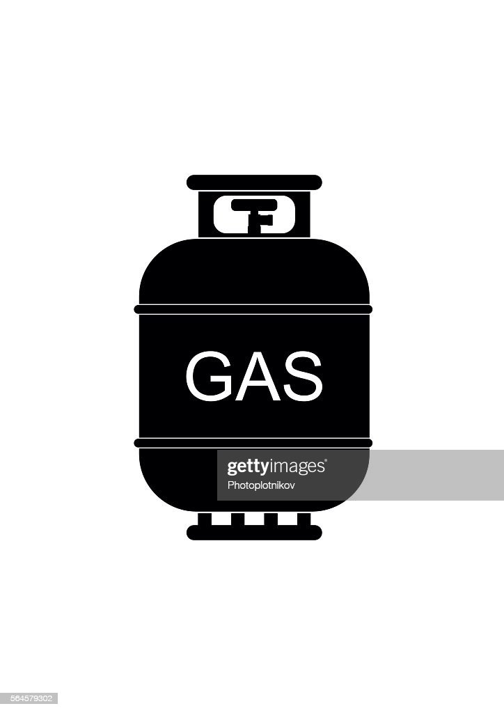 Gas tank icon. Propane cylinder pressure fuel lpd
