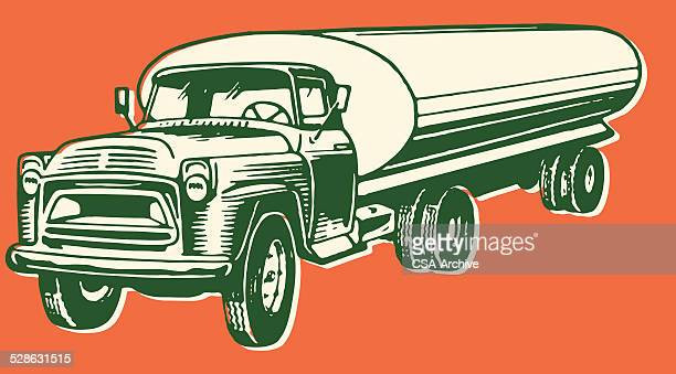 gas truck - oil tanker stock illustrations, clip art, cartoons, & icons