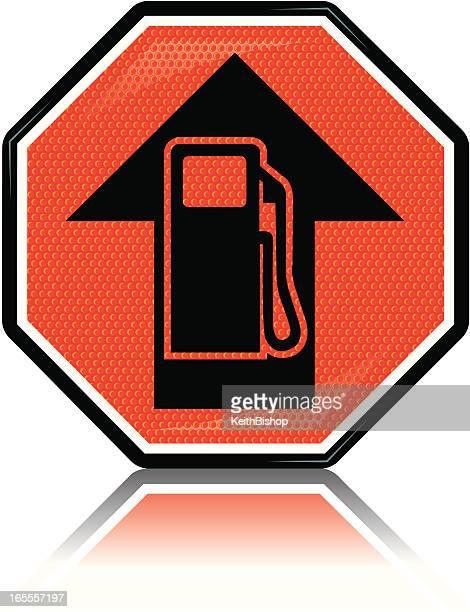 illustrations, cliparts, dessins animés et icônes de essence les prix du carburant conscientisation - fuel pump