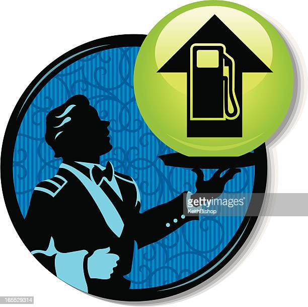 gasoline prices - fuel costs - gas prices stock illustrations, clip art, cartoons, & icons